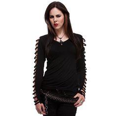 T-shirt Top Gothique Spiral