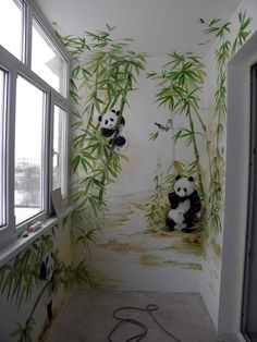 Kids' Room Ideas: Creating a Mural from Wallpaper Room Wall Painting, Mural Wall Art, Mural Painting, Wall Art Decor, Wall Art Designs, Paint Designs, Wall Design, Kids Room Murals, Bedroom Murals