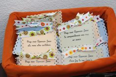 Baby Shower Favors- Prayer magnets for our baby boy
