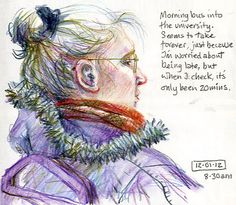 Page from the sketchbook of children's book illustrator, Lynne Chapman.