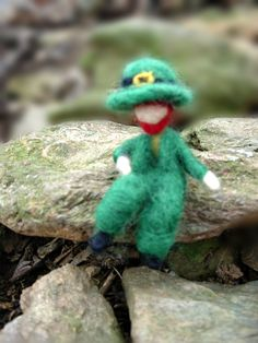 Leprechaun Doll- St. Patrick's Day Needle Felted Irish Fairy- For Play or Decoration