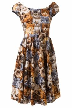 Retrolicious - 60s Purrfect Cute Kitty Cat Dress Hahaha for us, Marcie ;)