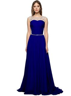 2017 Chiffon Royal Blue Evening Dresses Off The Shoulder Lace Up Blue Prom Party Dress Robe De Soiree Formal Gowns