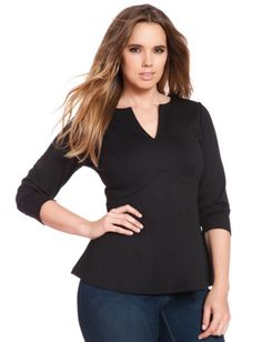 ELOQUII Plus Size Empire Flare Top From The Plus Size Fashion Community At www.VintageAndCurvy.com