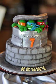 Teenage Mutant Ninja Turtles - by SerendibCakes @ CakesDecor.com - cake decorating website