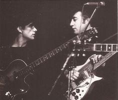 Stu Sutcliffe, left, former Beatle.  Dead at 21.