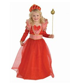 Loving this Red Ruby Queen Dress-Up Outfit - Toddler & Girls on #zulily! #zulilyfinds
