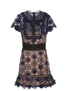 Louisa guipure-lace dress | Self-portrait | MATCHESFASHION.COM AU