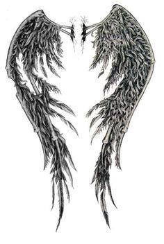 fallen Angel Wings Back Tattoo Designs Broken Wings Tattoo, Angel Wings Tattoo On Back, Fallen Angel Wings, Fallen Angel Tattoo, Angel Wings Drawing, Demon Wings, Black Angel Wings, Feather Angel Wings, Ange Demon