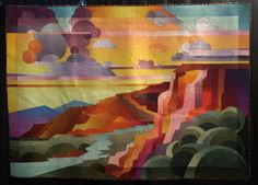 Yellow Sky by Shirley Gisi.  Landscape quilt. Photo by irish thREDhead: IQF 2014