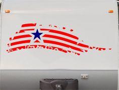 Usa Flag Camper Decals - Motorhome Stripe Kit - RV Stickers - Trailer Stickers- Sticker Graphic- Motorhome Decals- RV Stripe Kit- US15