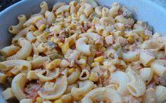 Retete Culinare - Nudelsalat -Salata de paste, cu legume si sunca:)