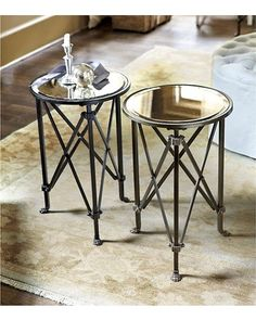 Olivia Mirrored Side Table - Ballard Designs