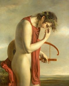 Attributed to Hugues Jean François Paul Duqueylard, Orpheus, early 19th century, oil on canvas, 99 by 80cm.; 39 by 311/2 in. (via necspenecmetu)