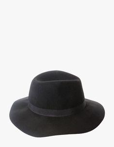 Sombrero fedora lana - GORROS Y SOMBREROS - MUJER  983ed341770
