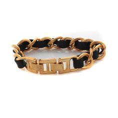 "Joan Rivers Goldtone Couture Classic Woven Leather Adjustable 8"" Bracelet  #JoanRivers #Link"