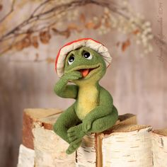 """Photo from album """"зверики on Yandex. Funny Frogs, Cute Frogs, Sapo Frog, Felt Animals, Cute Animals, Needle Felted Ornaments, Puppets For Kids, Frog Pictures, 3d Figures"""