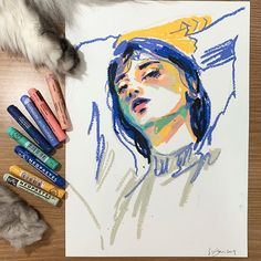 Art Sketches Art sketches diy crafts using toilet paper rolls - Diy Paper Crafts Crayon Drawings, Crayon Art, Art Drawings, Crayon Ideas, Drawing Drawing, Fuchs Illustration, Posca Art, Oil Pastel Art, Sketch Painting