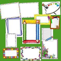 heel veel leuke randen, idee voor wordweb blad School Frame, Art School, Back To School, Classroom Displays, Classroom Organization, Quilt Labels, Class Decoration, Borders And Frames, School Themes