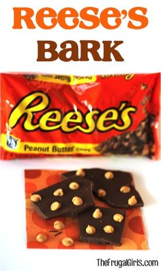 Reese's Chocolate Bark! ~ from TheFrugalGirls.com ~ there's no sweeter match than Chocolate + Peanut Butter! #dessert #recipes #thefrugalgirls