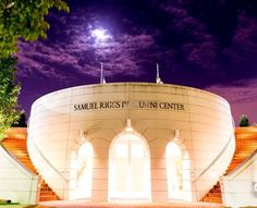 Samuel Riggs IV Alumni Center - College Park, MD ~Elegant venue in ideal location. Picture perfect details include marble floors, grand staircase & stained-glass ocular.  Lush garden surrounding a crystalline fountain. On the premises of the University of Maryland in College Park, MD