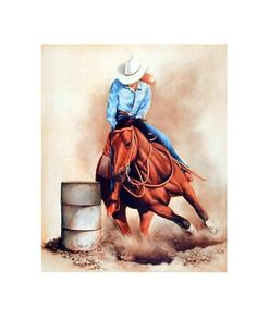 Western Cowgirl Custom Wall Paper Hd Pictures And Printings Hot Posters Print Canvas Poster Office Home Decor U1 601 Barrel Racing