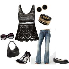 Black&white with Jeans - perfect<3, created by stigro