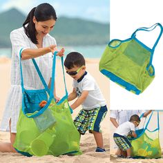 J Store® Extra Large Sand-away Carrying Bag Beach Toys Swimming Pool Mesh Bag Tote For Kids Sand Box Castle Clothes Beach Balls Towel (Swim, Toys, Boating. Baby Toy Storage, Toy Storage Bags, Tool Storage, Storage Basket, Storage Ideas, Laundry Storage, Kids Sand, Sand Play, Sand Toys