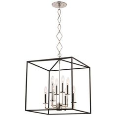 Hudson Valley Richie 8 Light 6 inch Polished Nickel and Textured Black Pendant Ceiling Light Multi Light Pendant, Pendant Light Fixtures, Pendant Lighting, Island Pendant Lights, Designer Shades, Hudson Valley Lighting, Modern Chandelier, Polished Nickel, Glass Shades