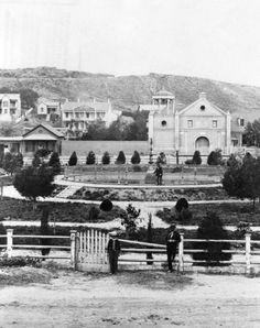 California History -- Los Angeles -- La Iglesia de Nuestra Señora la Reina de los Ángeles -- circa 1880