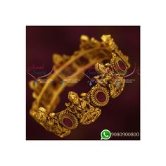 Gold Finish Antique Nakshi Temple Bangles Antique Plated Jewellery Online Three pictures are shown. The first picture is the currently available plating colour. Gold Necklace Simple, Gold Plated Bangles, Antique Plates, Temple Jewellery, Ruby Red, Stone Jewelry, One Pic, Plating, Perfume