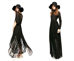 black long dress & hat _ODYLYNE Fall 2013 Collection (Stevie Nicks style)