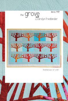 The Grove Quilt Pattern by Carolyn Friedlander  by QueenBeeFabrics, $11.95