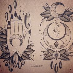 One under the moon for wrist cover up Dream Tattoos, Future Tattoos, Love Tattoos, Traditional Tattoo Moon, Kitsch, American Traditional Sleeve, Witch Tattoo, Tattoo Sketches, Arm Tattoo