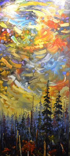 Maria's Sky, by Rod Charlesworth #landscape #tree #art