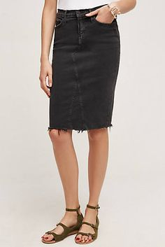 Mother Frayed Pencil Skirt