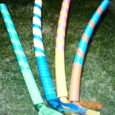 Pool noodles as jousting sticks...awesome for my Middle Ages Unit!
