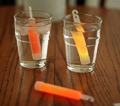 glow stick experiment for science affects of cold vs. hot