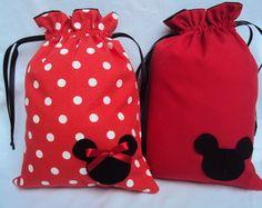 Lembrancinha saquinho Mickey E Minnie