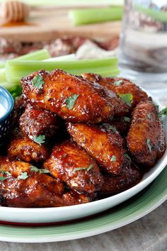 Sticky Buffalo Honey Hot Wings and Traditional Buffalo Hot Wings | http://www.carlsbadcravings.com/buffalo-honey-hot-wings-traditional-buffalo-hot-wings-recipe/