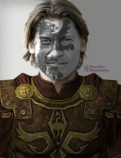 Jamie Lannister  | Game of Thrones War Paint by Hilary Heffron - Hilarious Delusions