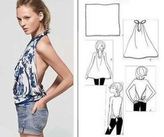 How to turn a scarf into a top...