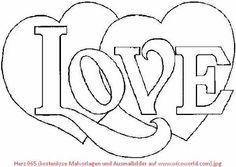 love bild zum ausmalen | coloring pages | heart coloring pages, valentines day coloring page und