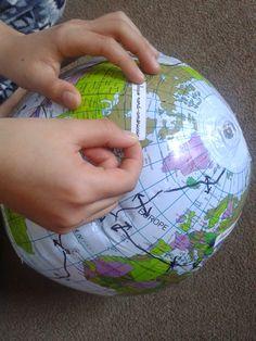 Cabrioles et Cacahuètes: Les Plaques Tectoniques / tectonic plates Tectonique Des Plaques, Plate Tectonics, Montessori, Christmas Bulbs, Globe, Holiday Decor, Home Decor, Science, Plates