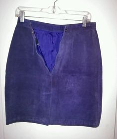 GLOBAL IDENTITY G-lll LEATHER SUEDE PURPLE SKIRT JUNIOR 11/12 NEW