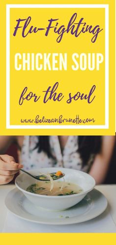 Delicious Chicken soup to fight the flu! I whip this up whenever I'm feeling the cough and cold coming on and my kiddos love it! Chicken Soup For Flu, Instapot Chicken Soup, Chicken Soup Base, Healthy Chicken Soup, Homemade Chicken Soup, Veg Soup, Chicken Soup Recipes, Easy Soup Recipes, Easy Healthy Recipes