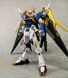 "MG 1/100 Destiny Gundam ""Blue and Gold colors"" Custom Build - Gundam Kits Collection News and Reviews"