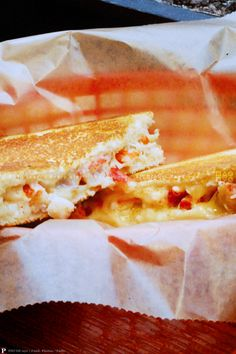 """LOBSTER GRILLED CHEESE 