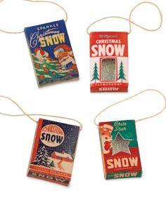 Mini Snow Box Ornaments - Bethany Lowe Christmas Miniature