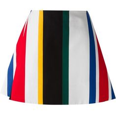 Marni striped skirt (195.235 CRC) ❤ liked on Polyvore featuring skirts, bottoms, multicolour, stripe skirts, cotton a line skirt, short skirts, short cotton skirts and colorful skirts